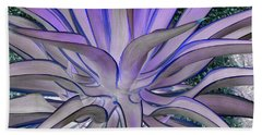 Purple Aloe Hand Towel by Rebecca Margraf
