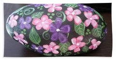 Purple And Pink Flowers Hand Towel