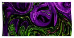 Purple Transformation Bath Towel by Karen Harrison