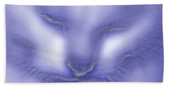 Hand Towel featuring the photograph Digital Puss In Blue by Linsey Williams