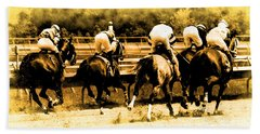 Hand Towel featuring the photograph Race To The Finish Line by Alice Gipson