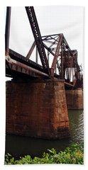 Hand Towel featuring the photograph Railroad Bridge 1 by Kay Lovingood