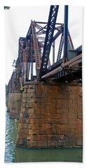 Hand Towel featuring the photograph Railroad Bridge 2 by Kay Lovingood