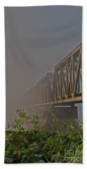 Railway Bridge Hand Towel by Rod Wiens