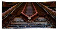 Railway Track Leading To Where Hand Towel