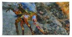 Rainbow Crab Hand Towel
