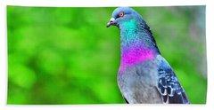 Rainbow Pigeon Hand Towel