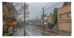 Rainy Day Nikko Hand Towel by Jonah  Anderson