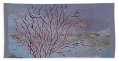 Red Branches Bath Towel by Judith Rhue