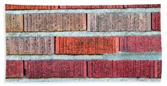 Red Brick Wall Bath Towel