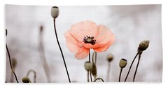 Red Corn Poppy Flowers 01 Hand Towel