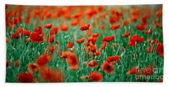 Red Poppy Flowers 04 Hand Towel