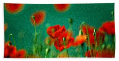 Red Poppy Flowers 07 Hand Towel