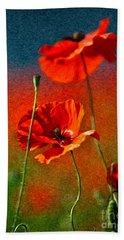 Red Poppy Flowers 08 Hand Towel