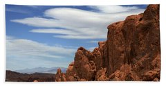 Red Rock Cliffs Valley Of Fire Nevada Hand Towel
