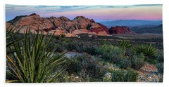 Red Rock Sunset II Hand Towel