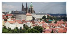 Red Rooftops Of Prague Hand Towel
