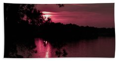 Red Sky At Night Bath Towel by Shannon Harrington