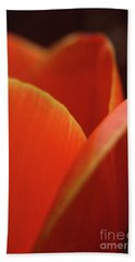 Hand Towel featuring the photograph Red Tulip by Jeannette Hunt