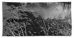 Hand Towel featuring the photograph Reflections In The Pond by Kathleen Grace