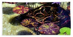 Reflections On Underwater Life Bath Towel by Clayton Bruster