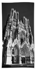 Reims Cathedral Bath Towel
