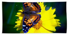 Resting Butterfly Bath Towel by Kevin Fortier
