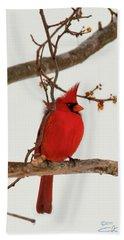 Righteous Cardinal Hand Towel