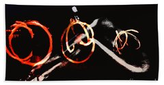 Burning Rings Of Fire Bath Towel by Clayton Bruster