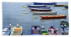 River Boats On Danube Hand Towel