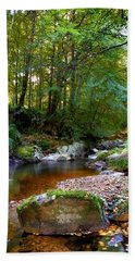 River In Cawdor Big Wood Hand Towel