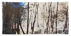 River Trees Bath Towel by Donna  Smith