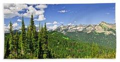 Rocky Mountain View From Mount Revelstoke Hand Towel