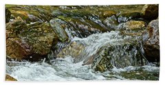 Hand Towel featuring the photograph Rocky River by Lydia Holly