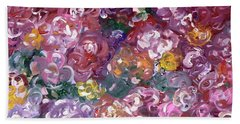 Bath Towel featuring the painting Rose Festival by Alys Caviness-Gober