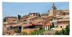Bath Towel featuring the photograph Roussillon In Provence by Carla Parris