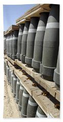 Rows Of Ammunition Are Stacked Bath Towel