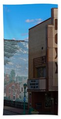 Roxy Theater And Mural Hand Towel