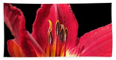 Hand Towel featuring the photograph Royal Red by Debbie Portwood