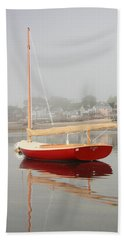 Ruby Red Catboat Bath Towel