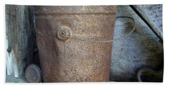 Rusty Bucket Hand Towel by Kerri Mortenson