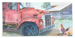 Rusty Truck Bath Towel by Christine Lathrop