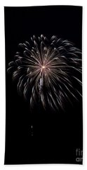 Bath Towel featuring the photograph Rvr Fireworks 10 by Mark Dodd