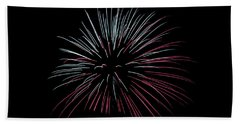 Hand Towel featuring the photograph Rvr Fireworks 15 by Mark Dodd