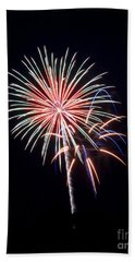 Bath Towel featuring the photograph Rvr Fireworks 16 by Mark Dodd