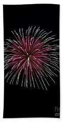 Hand Towel featuring the photograph Rvr Fireworks 8 by Mark Dodd