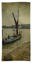 Hand Towel featuring the photograph Sailing Away... by Clare Bambers