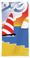 Sailing Before The Wind Hand Towel