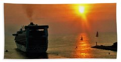 Sailing Into The Sunset Bath Towel