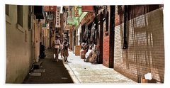 Bath Towel featuring the photograph San Fran Chinatown Alley by Bill Owen